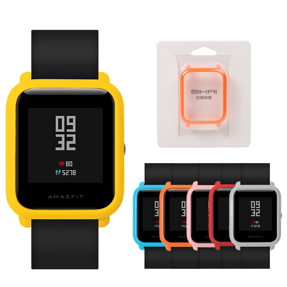 For Huami Amazfit Bip Younth Watch Case Cover For Xiaomi Stylish Colorful Soft TPU Case Cover For Amazfit Protect Shell