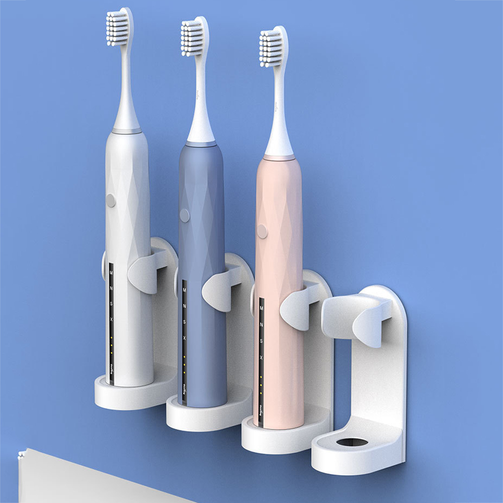 1Pc Creative Traceless Stand Rack Toothbrush Organizer Electric Toothbrush Wall-Mounted Holder Space Saving Bathroom Accessories 1