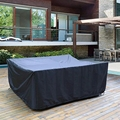 72 Sizes Outdoor Patio Garden Black Furniture Waterproof Covers Rain Snow Chair covers Sofa Table Chair Dust Proof Cover