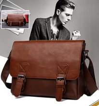 Classic PU Leather Messenger Bag for Men