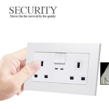 146 Type British Standard Double Socket Switch Panel Wall Electric Plugs For Home