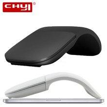 CHYI – souris Laser de jeu sans fil pliable, silencieuse, 2.4G, toucher Arc, Ultra fine, pour ordinateur Microsoft et portable