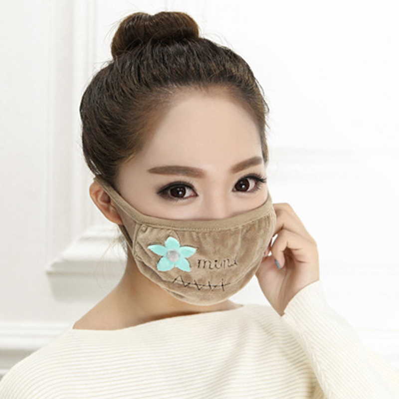 Dustproof Winter Mask Female Models Cotton Fashion Thick Double-Layer Breathable Warm Windproof Cold Mask