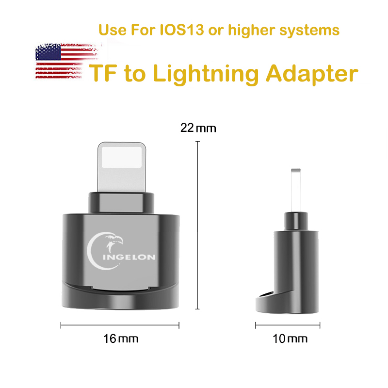 Mobile Phone Adapter for Lightnin* to micro SD Converter 3. 0 For iPhon 7 8 6s Plus 11 Max XS XR OTG for iOS 13 TF Memory Card