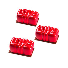 LOVE Shaped Silicone Cake Mold Dessert Mousse Baking Form Tray Pastry Decorating Tool