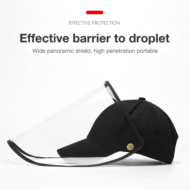 Face Shield Anti-Spitting Hat, Safety Face Shields Anti-Saliva Protective Cap Cover Dustproof Cover Outdoor Fisherman Hat Mask 4