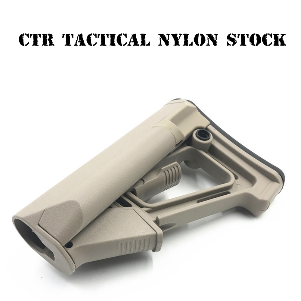 CTR Nylon Tactical Toy Gun Stock Gel Blaster Upgrade Extended Stock Upgrade Part Replacement  Accessories