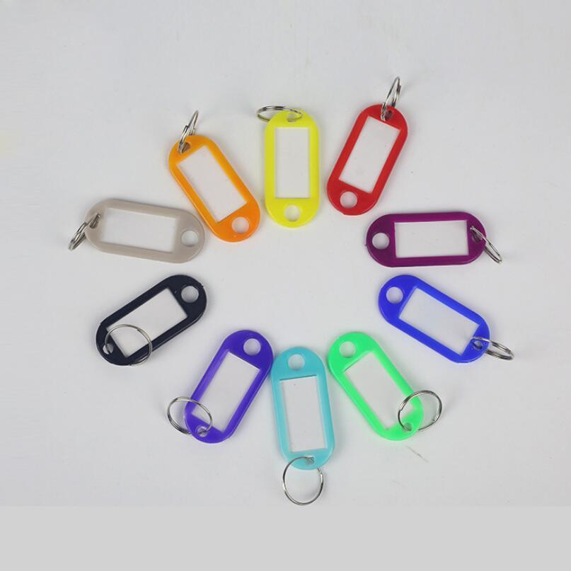 High Quality 10 PCS Plastic Custom Split Ring ID Key Tags Labels Key Chains Key Rings Numbered Name Baggage Luggage Tags 2020