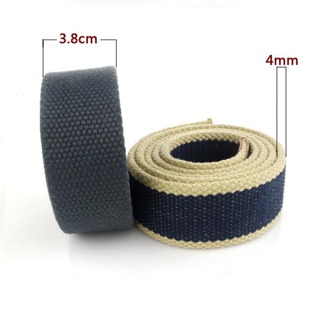 Hot Tactical Canvas Belt Body Men Women Thicken 4MM Military Width 3.8CM Designers High Quality 110-140-160cm No Buckle 6