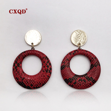 CXQD new Personality Dangle Drop Earrings For Women Girls Alloy Gold Drop Brincos Fashion Jewelry Wedding Earrings Party Gift 2019 fashion new best selling alloy drop sequin earrings niche temperament simulated pearl dangle brincos for women jewelry gift