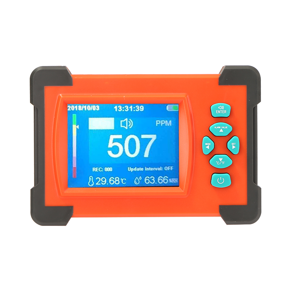 Able Desktop Carbon Dioxide Analyzer Monitor Lcd/pc Gas Detector Logger Meter For Carbon Dioxide Concentration