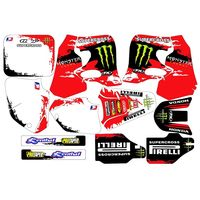 For HONDA CR125 CR250 1993 1994 New Full Graphics Decals Stickers Custom Number Name 3M Bright Matte Stickers Waterproof