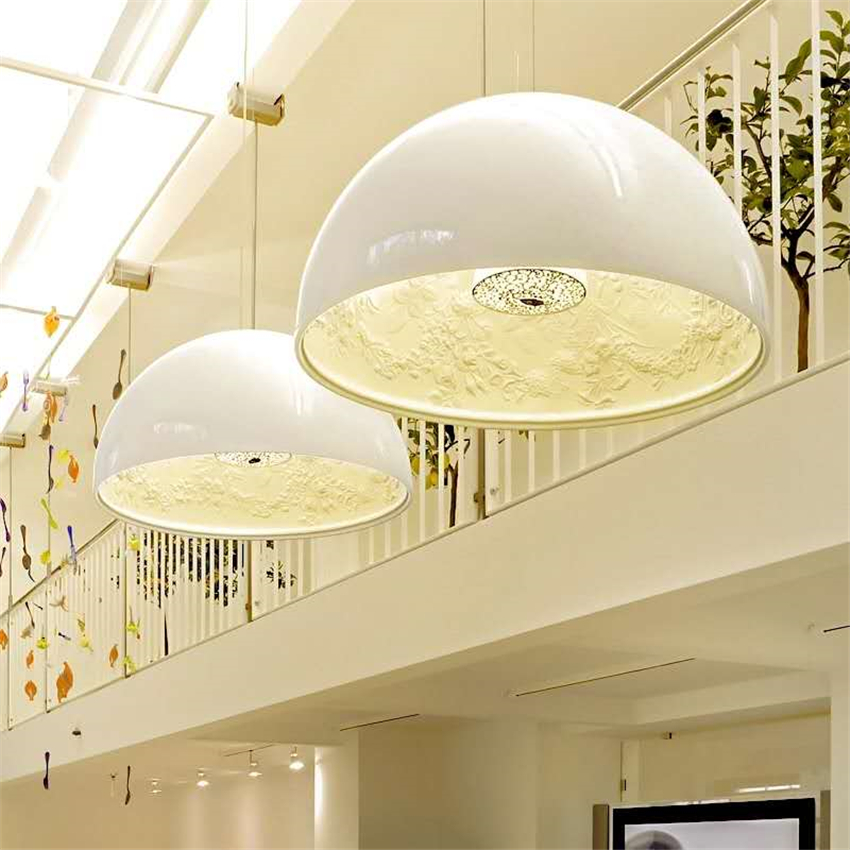 Italian Modern Fashion SKYGARDEN E27 LED Chandelier Resin Sculpture Glossy Restaurant Bedroom Loft Decoration Chandelier