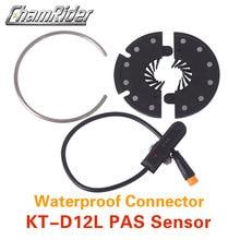 משלוח חינם עמיד למים מחבר תקע PAS דוושה לסייע חיישן KT D12L 12 מגנטים קל להתקין