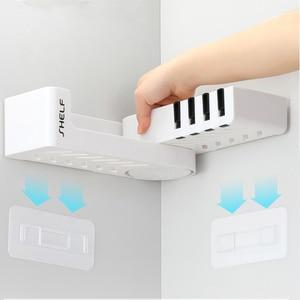 Image 5 - Bathroom Corner Shelf Shower Shampoo Organizer Rotatable Without Drilling With 4 Hooks For Bathroom Basket Kitchen Storage