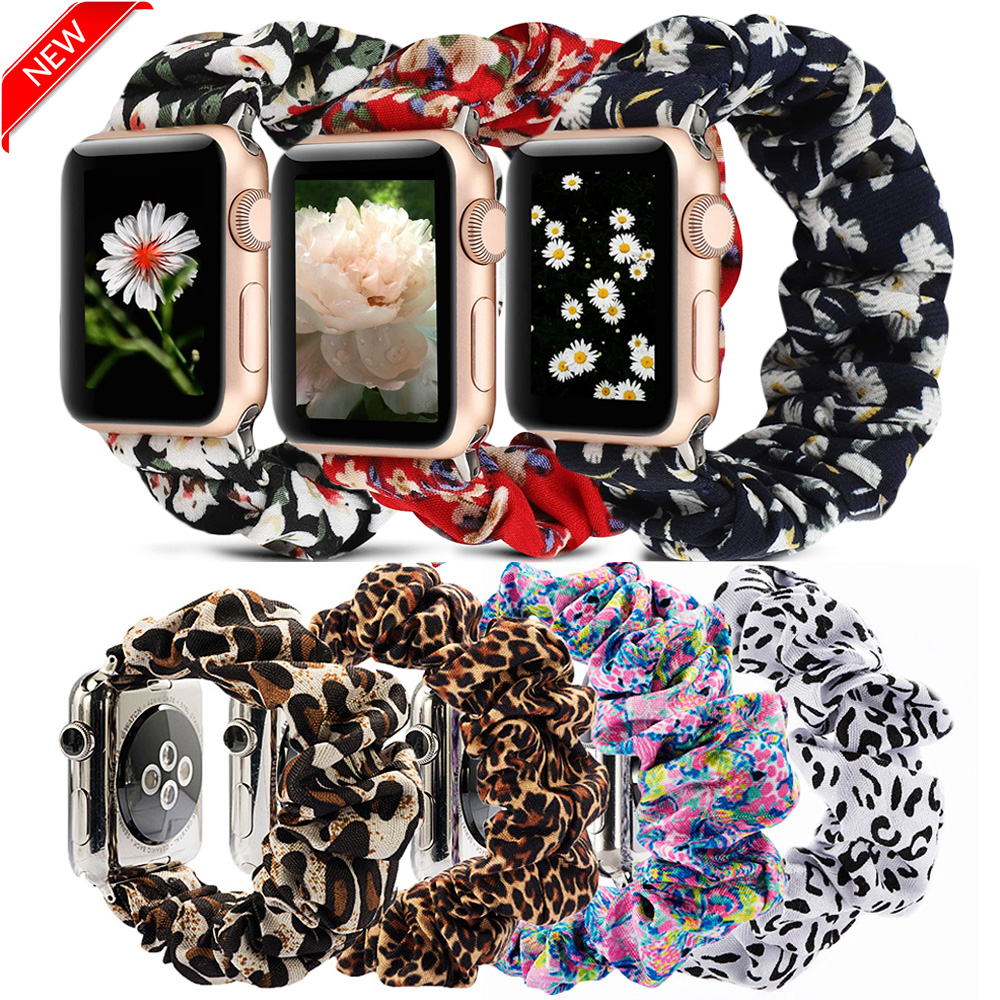 Scrunchie Elastic WatchBand For Apple Watch Band Series 5 4 3 2 Strap 38mm 40mm 42mm 44mm For Iwatch 5 4 3 2 Christmas Gift