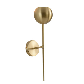 Minimalist E14 LED Wall Lights Living room Bedside Wall Sconce Stair Corridor Wall Lamp Gold Copper Home Atmosphere Loft Deco