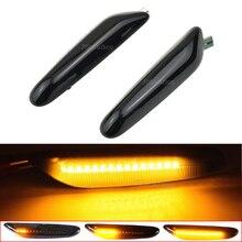 순차적 깜박이 LED 신호 사이드 마커 라이트 BMW E60 E61 E90 E91 E87 E81 E83 E84 E88 E92 E93 E82 E46 1 3 5 시리즈