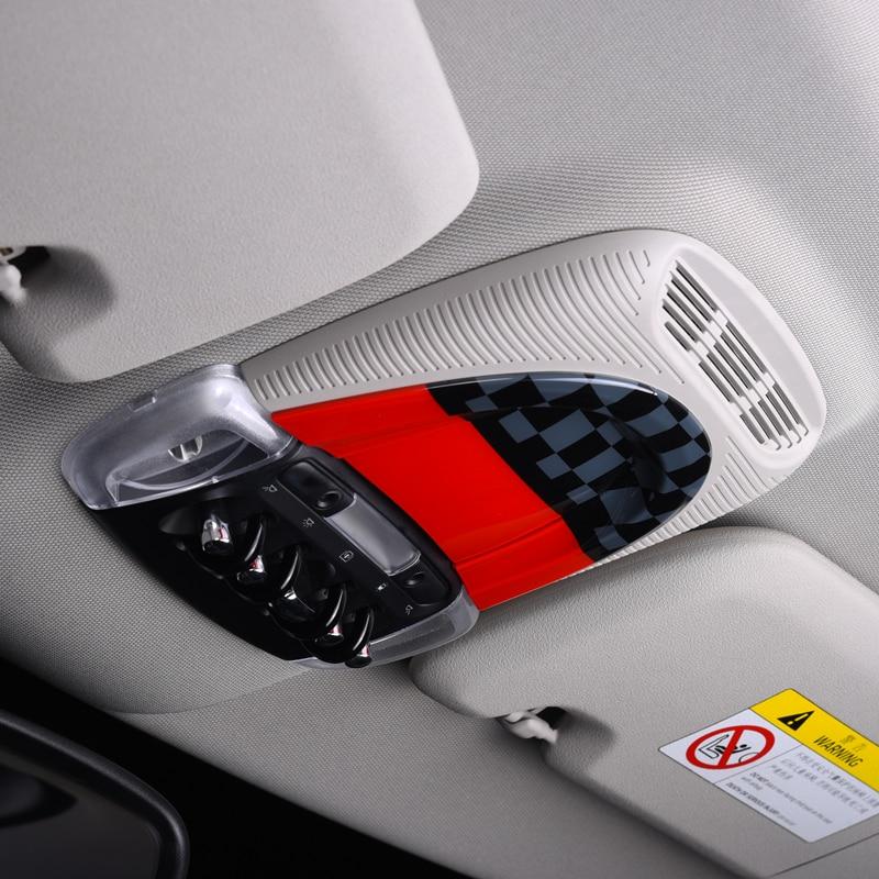 Car Roof console box decoration Sticker For MINI Cooper S JCW F54 F55 F56 F60 Car reading light decoration styling accessories|Automotive Interior Stickers| |  - title=