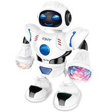 For Child Battery Operated Kids Gift Electronic LED Flashing Funny Dancing Robot