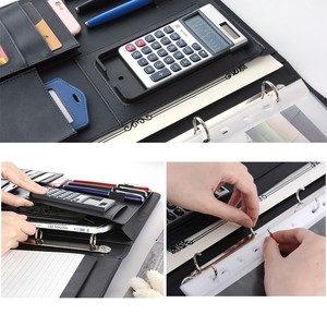 Image 3 - A4 File Folder Conference Multifunction Pouch Cover Office Business Management Clip Binder Calculator Card Holder Manager Clip