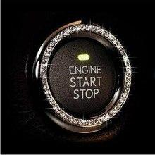 Кристальный автомобильный двигатель старт Стоп ключ зажигания кольцо для honda crf 450 nissan qashqai kia sportage 2018 golf mk4 renault clio 4