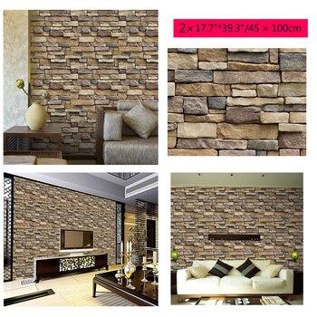 Azulejo de pared 3D para mampostería, pegatinas de pared autoadhesivas con efecto...