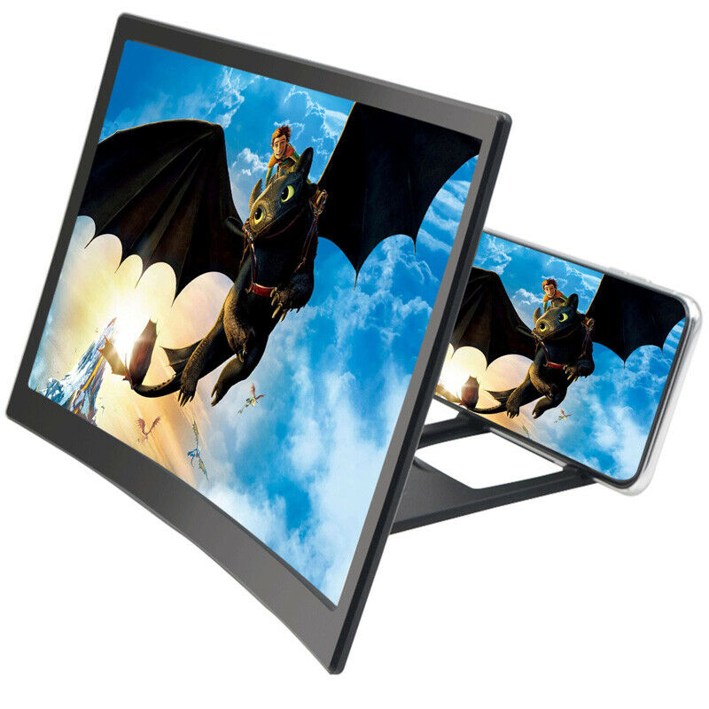 12 Inch Mobile Phone 3D Screen Video Magnifier Curved Enlarged Smartphone Movie Amplifying Projector Stand Bracket