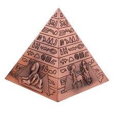 Metal el sanatları mısır piramitleri bina modeli kitaplık süsleme