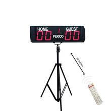 Gorąca sprzedaż przenośny cyfrowy piłka nożna tablica wyników led gra piłka nożna tablica wyników dla sportu tanie tanio GANXIN Wall Clocks SQUARE DIGITAL WX5D-4R 190mm 45mm Metal 618mm 1500g Luminova Remote Control 4 + 2 3 61 8*19*4 5 cm