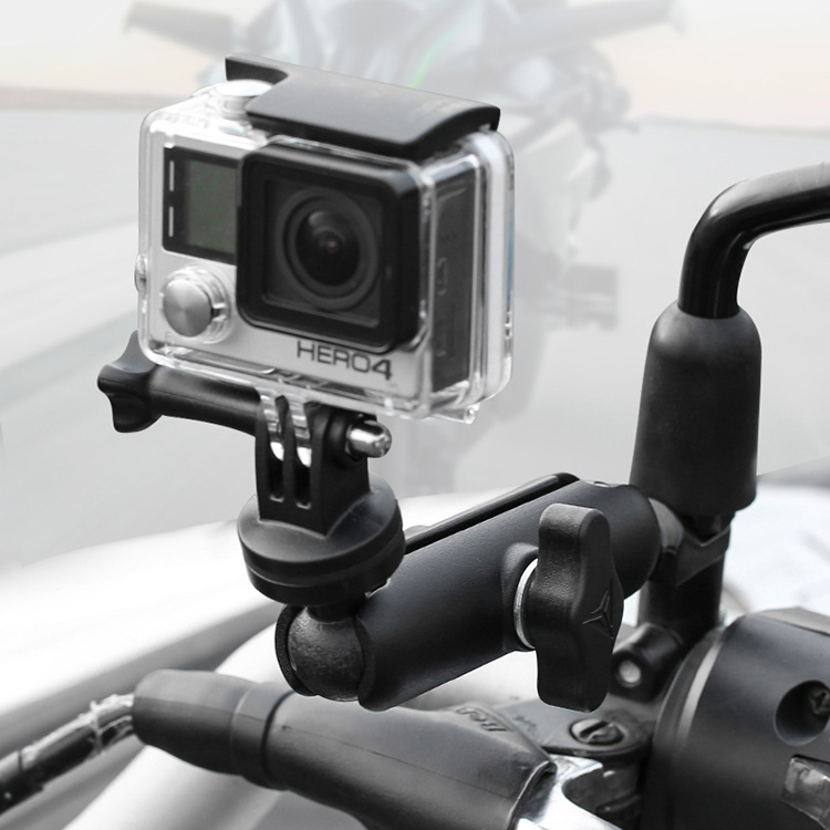 360Rotate Motorcycle Phone Holder Sport Camera DV Stand Support for Gopro GPS Bike Holder For Sony For Xiaomi For insta 360 DJI
