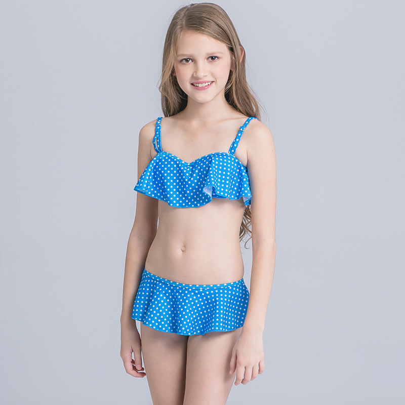 2017 New Style CHILDREN'S Swimsuit Manufacturers Wholesale Korean-style Fashion Cute Princess Camisole Lace Skirt-Two-piece Swim