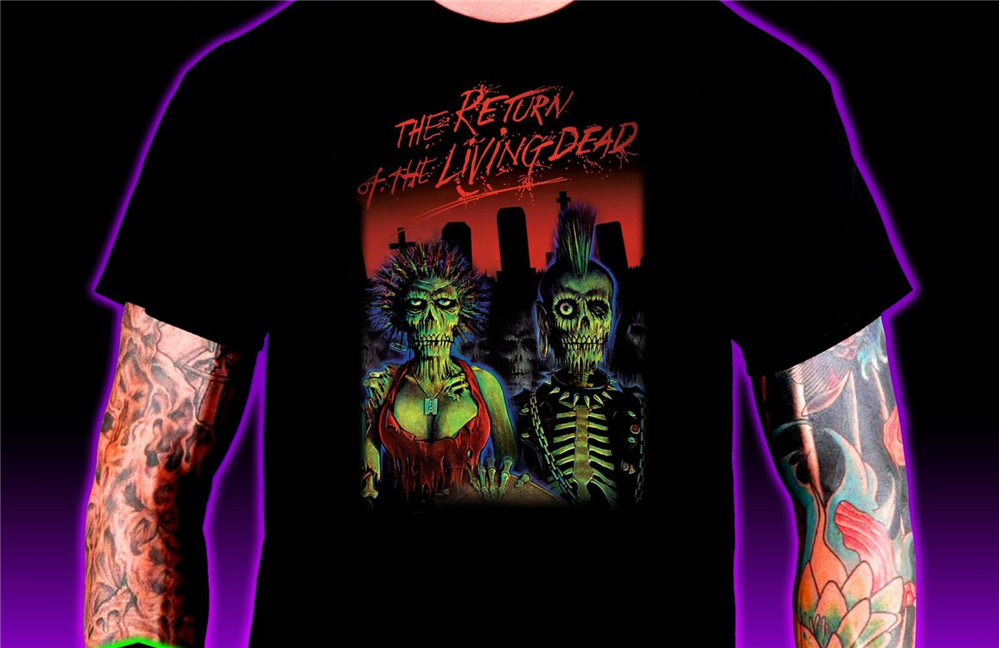 Return Of The Living Dead Men'S Dtg Tee 100% Cotton Zombies Movie 80S Iamcesart Free Shipping Tops Tee Shirt image
