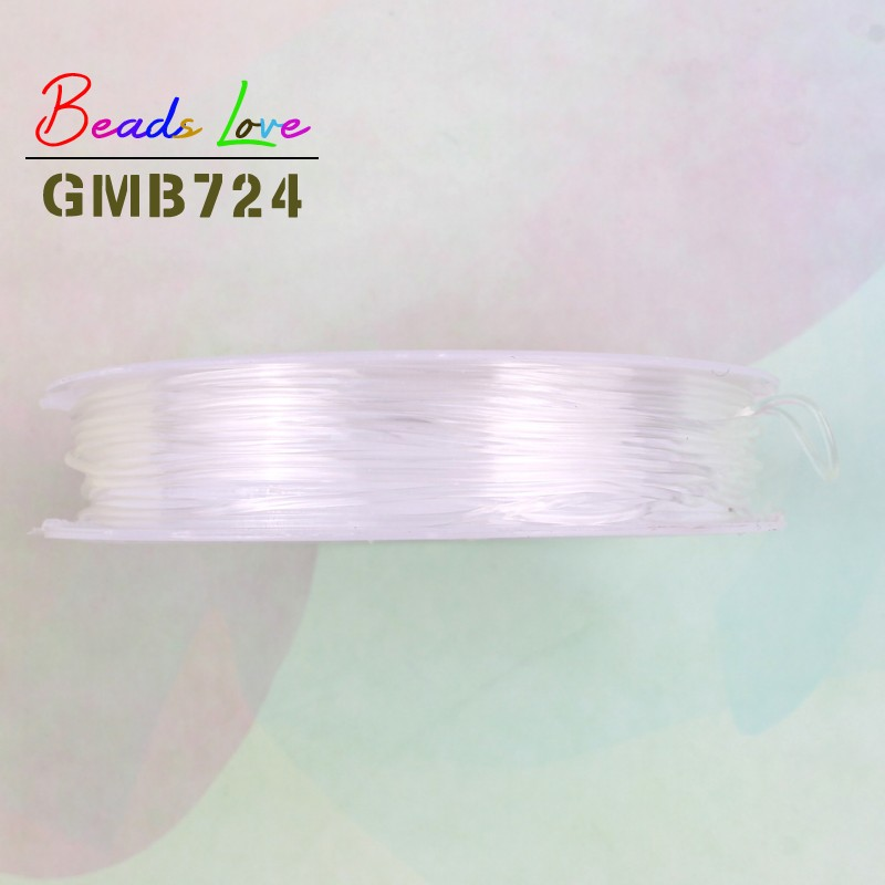 0 6mm 0 8mm 1mm Transparent Elastic Crystal Cord Beading String Wire Thread For Jewelry Making DIY Necklace Bracelet Accessories in Jewelry Findings Components from Jewelry Accessories