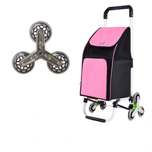 Grocery-Bag Stair-Cart Folding Heavy-Duty with Adjustable Bungee-Cord Lbs-Capacity 220