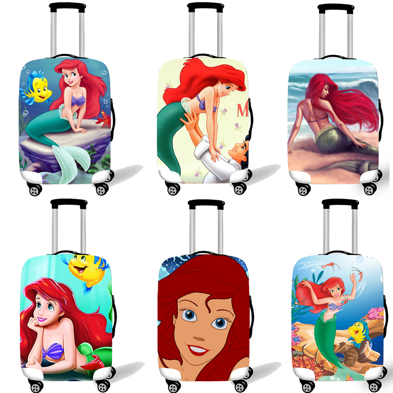 Elastic Luggage Protective Cover Case For Suitcase Protective Cover Trolley Cases Covers Travel Accessories Little Mermaid Ariel