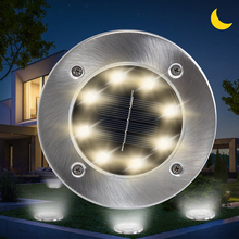 Underground-Lamp Street-Light Lawn Solar Led Garden Outdoor Waterproof 8LEDS Stair-Yard