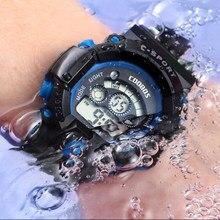 Zegarek meski – montre-bracelet militaire de luxe pour hommes, marque de luxe, étanche, 3 bars, sport, numérique, calendrier complet, horloge en caoutchouc