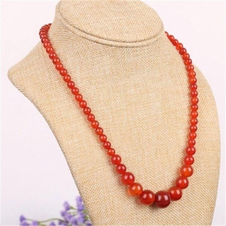 Натуральный красный агат халцедон ожерелье кулон с женскими изысканными модными аксессуарами кристалл красный год судеб