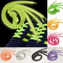 1 Pair 110cm Flat Shoelaces Gold Silver Shoe Laces Party Camping Glowing Canvas Shoes Strings Drop Shipping
