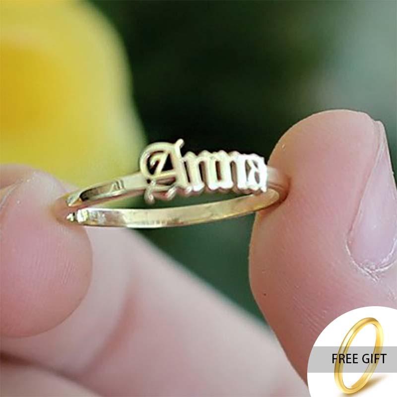 Custom Anelli di Oro In Acciaio Inox Nome Anelli per Le Donne In Argento Nome Personalizzato su misura Anelli Gioelleria Raffinata E Alla Moda Per gli uomini 1
