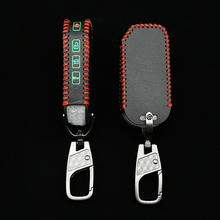 2021 Lichtgevende Stijl Lederen Auto Sleutelhanger Skin Cover Voor Kia 2018 2019 Sportage R Stinger Remote Sorento Cerato Beschermen key Case
