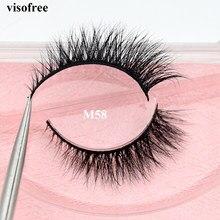 Visofree norek rzęsy ręcznie wykonane fałszywe rzęsy okrucieństwo bezpłatne Mink Lashes przedłużanie rzęs makijaż Faux Cils rzęsy M58