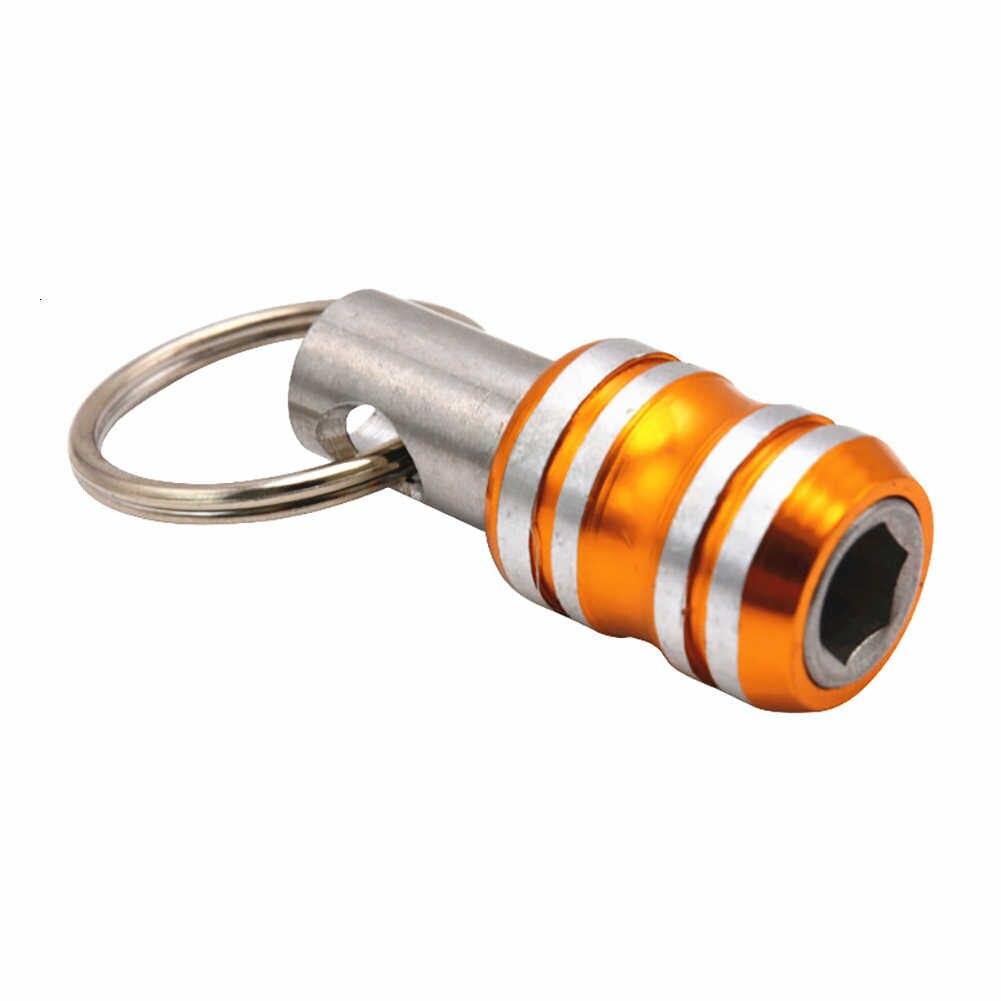 35mm 1/4 אינץ Hex Shank מברג ביטים בעל הארכת בר תרגיל בורג מתאם שחרור מהיר מקדח מחזיקי Keychain