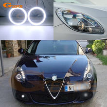 Excellent Ultra bright COB led angel eyes halo rings Day Light For Alfa Romeo Giulietta 2010 2018