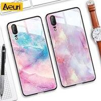 Luxus Marmor Telefon Fall Für Huawei P30 P20 Lite Gehärtetem Glas Abdeckung Für Huawie Mate 10 20 Lite Pro Nova 2 Plus 2i 3 3i Coque