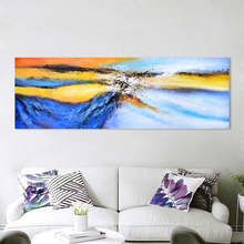 DDWW  Large Size Posters Abstract Landscape Painting Wall Art Canvas Picture  Print for Living Room Home Decor No Frame painting canvas wall decor art picture canvas print painting abstract pattern blue yellow for living room home decor no frame