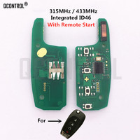 QCONTROL  Car Remote Control Key Electronic Circuit Board for Chevrolet Malibu Cruze Aveo 315MHz/433MHz with remote start|Car Key|   -