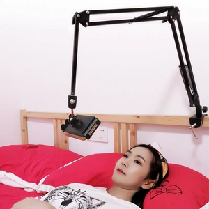 Image 5 - For IPad Pro AIR Samsung S5e 10.6 Inch Tablet Holder Stand Lazy Bed Desk Tablet Mount Support Cell Phone Bracket For Iphone X XS