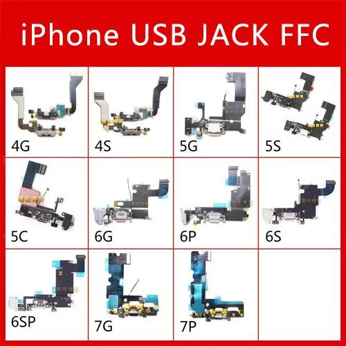 5 5S 6 6P 6S 6Splus 7 7P 8 8P X Micro USB Charging Board MIC Microphone Connector Vibrating Motor IC Flashlight PCB Repair Part
